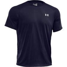 Maglie e top da uomo blu corti leggeri per palestra , fitness , corsa e yoga