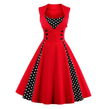 Womens Retro 50s 60s Rockabilly Dress Housewife Party Vintage Floral Swing Dress