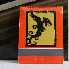 Rare Vintage Matchbook D3 La Normandie Dragon Tavern Chop House Ohio Monster