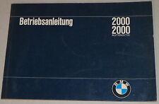 Betriebsanleitung BMW Neue Klasse 2000 / 2000 Automatic Stand 03/1966