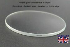 Watch Glass Crystal Lens 17mm-40mm 1.5mm thick Fits Seiko Citizen etc