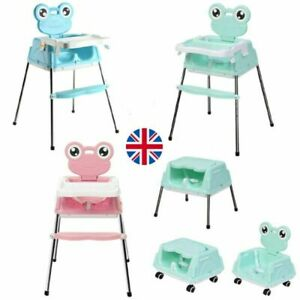 Adjustable 5-In-1 Baby Highchair Infant High Feeding Seat Toddler Table Chair UK