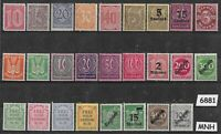 #6881   Vintage MNH stamp collection / GERMANY /  26 different before 1920