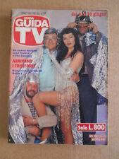 GUIDA TV n°22 1989  Copertina Trettre e Tini Cansino  [G435]