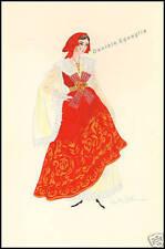 SERIGRAFIA ORIGINALE 1900 FAINI COSTUME SICILIA