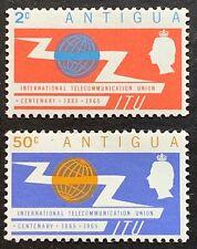 Antigua. ITU Stamp Set. SG166/67.1965. MNH. (P34)