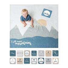Lulujo Baby Baby's First Year Blanket and Card Set I Will Move Mountains