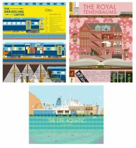 Wes Anderson Life Aquatic Royal Tenenbaums Darjeeling Limited Art by Alan Segama