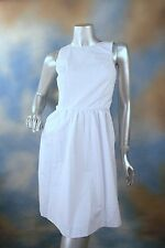 NEW KENSIE white circular perforated fit n flare unique party dress XS