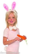 CHILD SIZE PLUSH BUNNY SET EARS BOW TIE TAIL KIDS BUNNY KIT COSTUME ACCESSORY