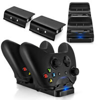 Dual USB Charging Dock Station Controller Charger+2Rechargeable Battery For Xbox