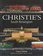 CHRISTIE'S Model Railway Train Basset Lowke Bing Exley Hornby Marklin Cat 1999