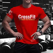 CrossFit NO shirt T-shirt GYM WOD Functional Training Sport Workout Strength C7+
