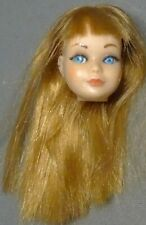 vintage Barbie TNT Skipper Beautiful Titian hair Head blush eyelashes 1967/68
