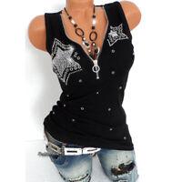 Womens Tank Top T-shirt V-Neck Sleeveless Casual Zipper Shirts Blouse Tops Vest