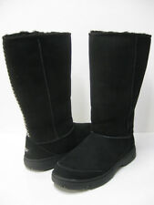 UGG  ULTIMATE TALL BRAID WOMEN BOOTS SUEDE BLACK US 11 /UK 9.5 /EU 42