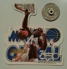 Shaquille O'Neal Orlando Magic NBA basketball die-cut Fridge Magnet NOS 1996