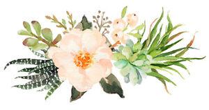Cacti succulent floral wreath die-cut sticker decal pastel rustic bohemian boho