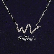 18K White Gold Plated Lightning & Meteor Zircon Necklace