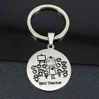 Engraved Keyring Thanks for Teacher Keychain Custom Name Gift for Teacher  IJ