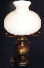 Gande Lampe / Opaline vintage - Design Lampe à Pétrole - Brun 1970