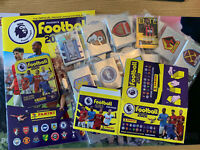 Panini Football 2020 Premier League Sticker Album and complete unstuck bundle