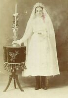 Young Girl Communion Dress Religious Lancaster Pennsylvania 1890s Cabinet Photo