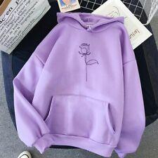Hoodie Women Loose Sweatshirt Streetwear Flower Printing Hoodie Pullovers Female