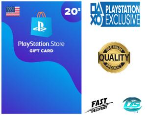PlayStation Network $20 USD - 20 US Dollar PSN Store Key Code - PS4 PS3 PSP – US
