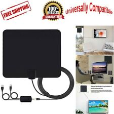Flat Antenna Digital HD TV FOX Amplified Mile Ultra Thin 100 Miles Range Indoor