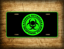Zombie Outbreak Response Team License Plate Walking Dead Auto Tag NEON GREEN