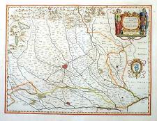 Italia DUCATO overo Territorio di Milano Milano Pavia-CREMA Blaeu STEMMA 1640