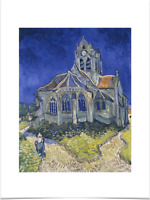 VINCENT VAN GOGH CHURCH IN AUVERS BIG BORDERS LIMITED EDITION ART PRINT 18X24