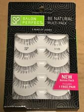 QTY 4: of 5 Pairs (=20) Salon Perfect Be Natural Multi Pack Eyelashes, 110 Black