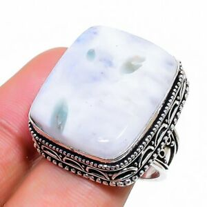Rainbow Moonstone Gemstone Handmade 925 Sterling Silver Jewelry Ring Size 8 a067