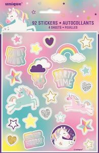Unicorn Mystical Rainbow Party 92 Stickers Invitation Gift Letters Favours Kids