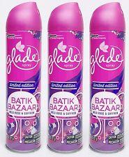 3 Glade BATIK BAZAAR Wild Rose & Saffron Room Spray Air Freshener 8 oz Spring