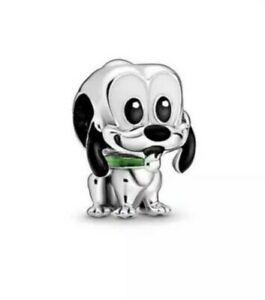 Silver Disney Pluto Dog Charm For Brand Name & European style charm Bracelets