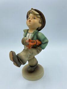 Hummel Collectible Porcelain Figurine Happy Traveler #109 Boy Walking Umbrella