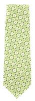 "New Finamore Napoli Green Floral Tie - 3.25"" x 57"" - (TIEFLRX222)"