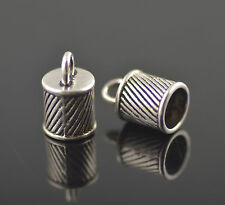 15pcs Silver End Caps Bead Stopper Fit 7mm Cord Making Bracelet Necklace NEW