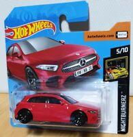 Hot Wheels 2020 HW Nightburnerz #194 2019 Mercedes Benz A Class red AMG A35 A45