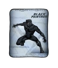 "Marvel Black Panther Blanket 62"" x 90"" Throw Bedding Plush New Full"