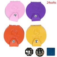 24slots Pu Leather Nail Art Stamping Plates Case Folder Nail Stamp Holder  js