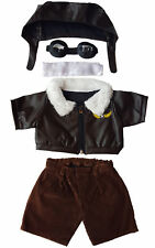 Pilot Outfit With Goggles Teddy Bear Clothes Fit 14 - 18 Build-a-bear Vermont