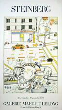 Saul Steinberg: Steinberg. Galerie Maeght Lelong 1986. Plakat, Offsetdruck.
