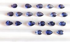 7.40 Cts 20 Pieces Natural Iolite Pear Cut Lot Loose Gemstone 4X6 MM H-192