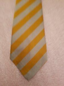 Striped Tie - Yellow / Silver