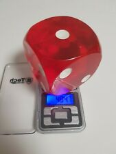 alter DDR Würfel - rot - 7,5 x 7,5cm - 484 Gramm - Bakelit