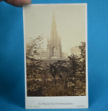 1870s CDV Carte De Visite Sir Walter Scott's Monument Edinburgh G W Wilson